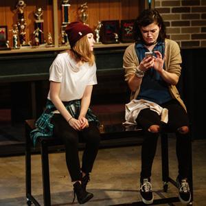 A scene from LIKE A BILLION LIKES, Mikaela Krantz and Delaney Milbourn